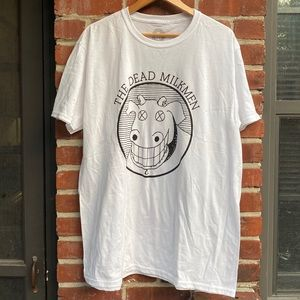 He Dead Milkmen Band T Shirt White/Black